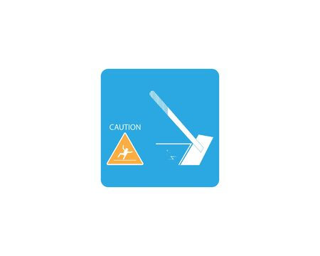 Cleaning service icon and symbol vector illustration 스톡 콘텐츠 - 130085539
