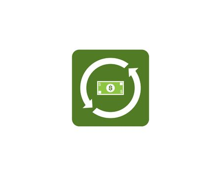 Dollars icon and symbol vector template
