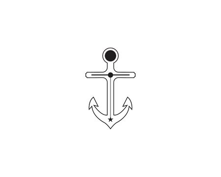 Anchor icon and symbol vector illustration