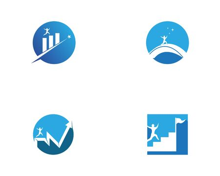 Success people icon and symbol vector template Illustration