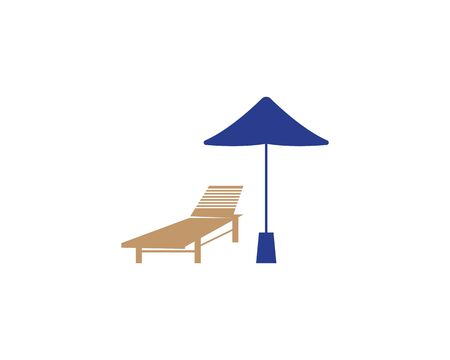 Summer Holiday With Parasol On The Beach Banque d'images - 130485038