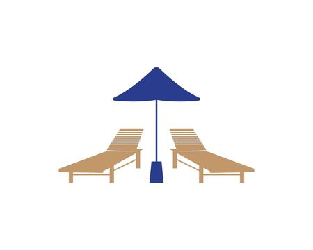 Summer Holiday With Parasol On The Beach Banque d'images - 130485040