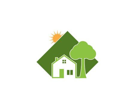 Building home nature icon vector illustration