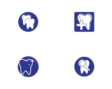 Health dental care icon and symbol vector illustration