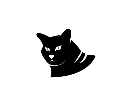 Cat silhouette icon and symbol vector illustration Illustration