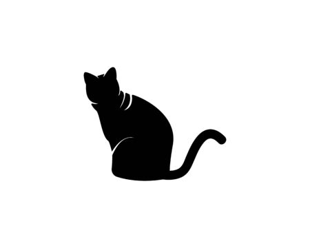 Cat silhouette icon and symbol vector illustration Ilustração
