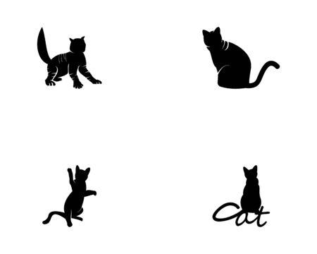 Cat silhouette icon and symbol vector illustration Illustration