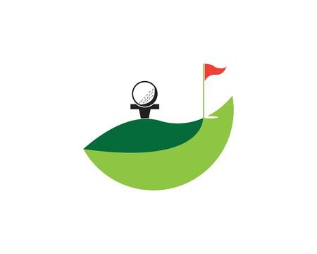 Golf icon and symbol illustration