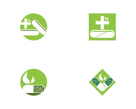 Capsule health medical icon and symbol template