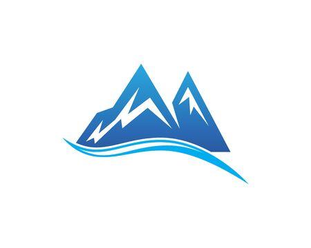 River mountain vector icon illustration design