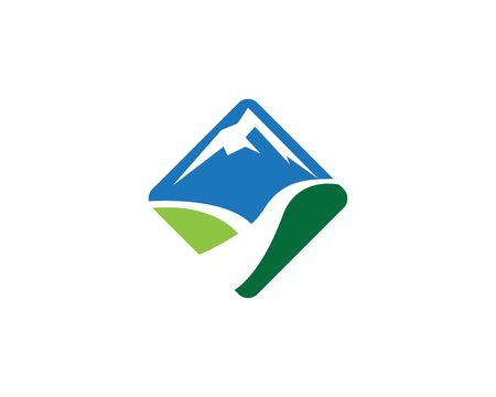 River mountain vector icon illustration design