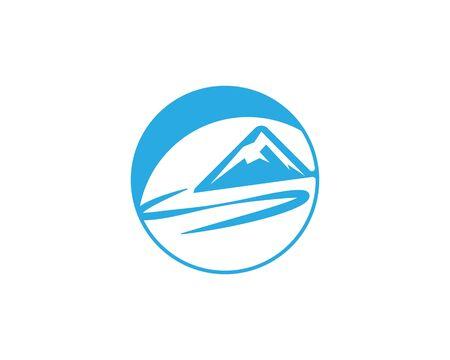 River mountain vector icon illustration design Vetores