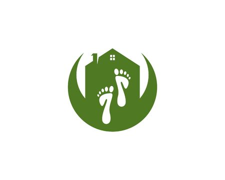foot Logo Template vector icon illustration design