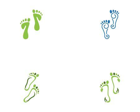 Diseño de ilustración de icono de vector de plantilla de logotipo de pie Logos
