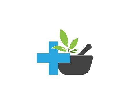 Herbal pharmacy icon and symbol vector illustration
