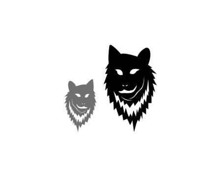 Wolf head icon and symbol vector illustration
