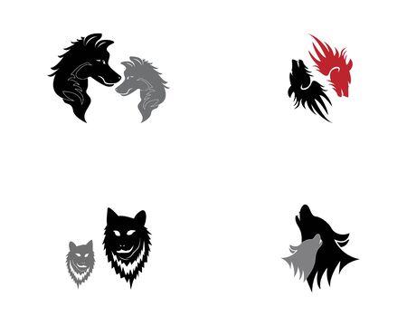 Wolf head icon and symbol vector illustration Stock Illustratie