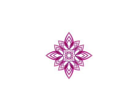 Lotus flower icon and symbol vector illustration Illustration