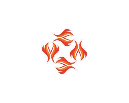 Fire flame vector illustration design template
