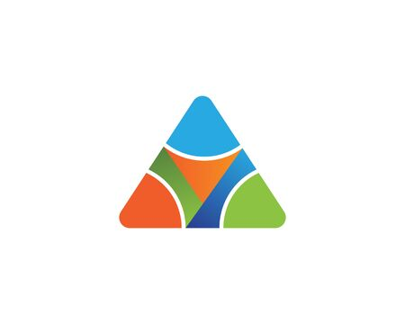 Triangle with y letter logo design illustration Vectores