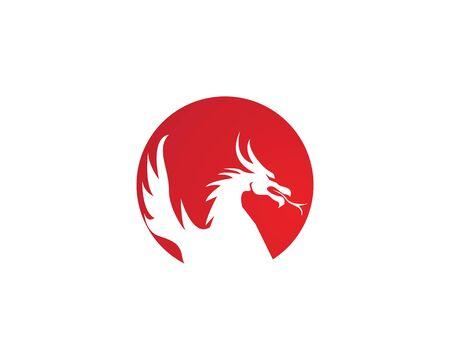 Dragon vector icon illustration design logo template Logo