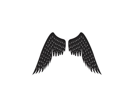 Black wing logo symbol vector template