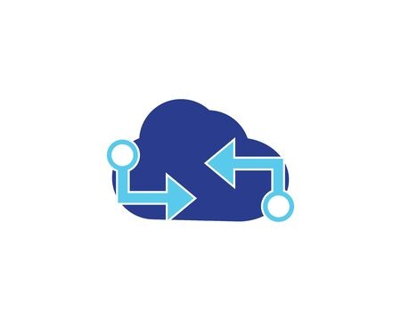 Techno cloud template vector icon illustration design 向量圖像