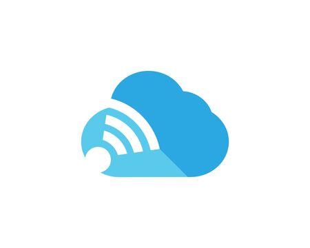 Techno cloud template vector icon illustration design  イラスト・ベクター素材