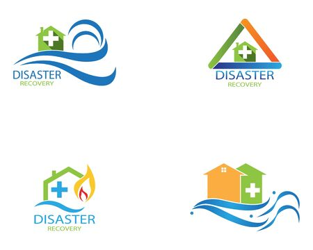 Disaster recovery logo vector illustration