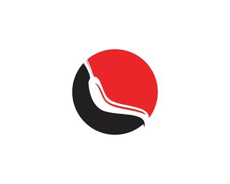Red hot natural chili icon Template vector Illustration Illusztráció