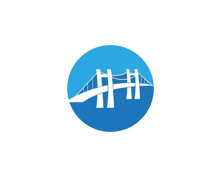 Bridge design vector template