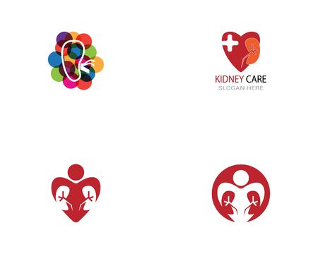 Kidney care icon and symbol vector illustration Vector Illustration