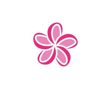 Plumeria flower beauty logo vector illustration
