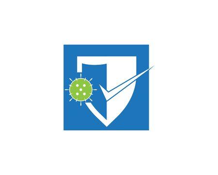 Corona virus protection logo vector