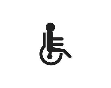 Disable icon and symbol logo template vector Vettoriali