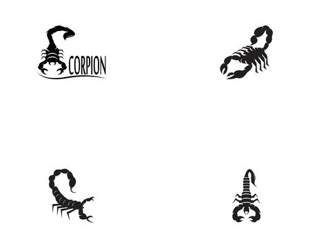 Scorpions set icon and symbol vector illustration on white background