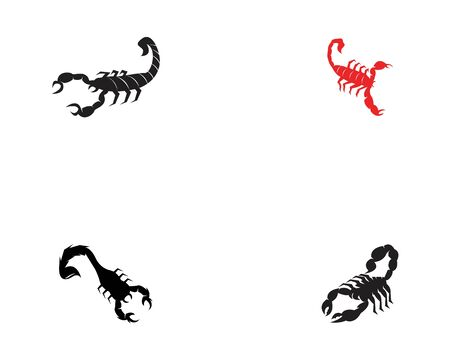 Scorpions set  icon and symbol vector illustration on white background Illusztráció