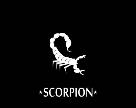 Scorpion icon and symbol vector illustration on black background