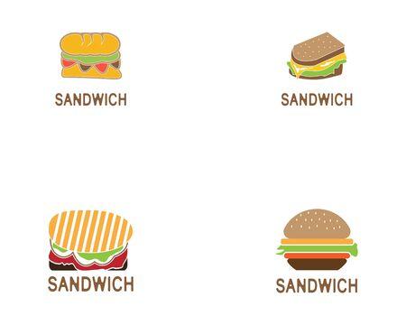 Sandwich set icon logo design vector illustration Logo