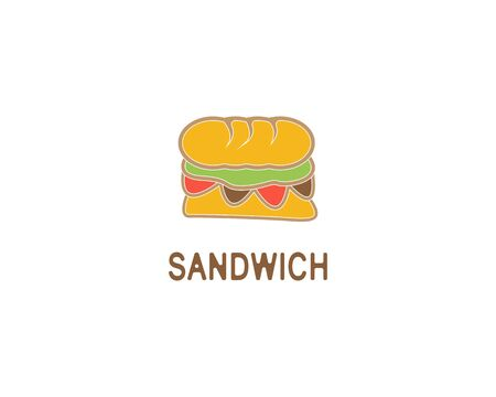 Sandwich logo design vector illustration