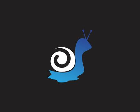 Snail image template illustration