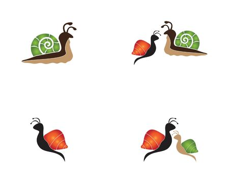 Snail set image template illustration