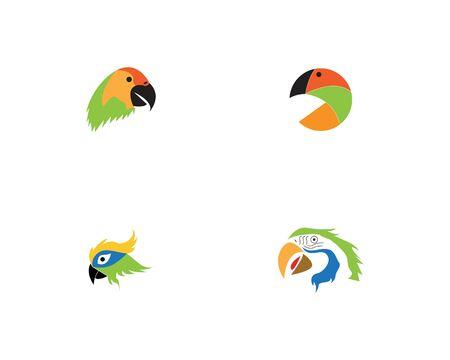 Parrot bird image logo vector Illustration