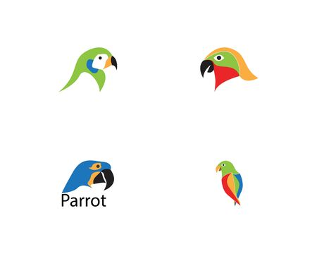 Parrot bird image logo vector Stock Illustratie