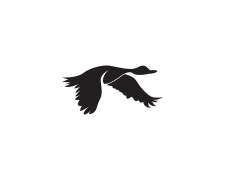 Goose icon and symbol vector illustration