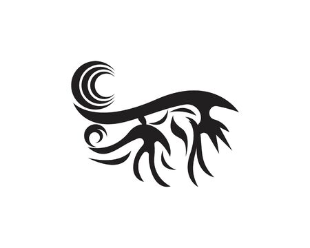 Black tribal tattoo abstract background symbol