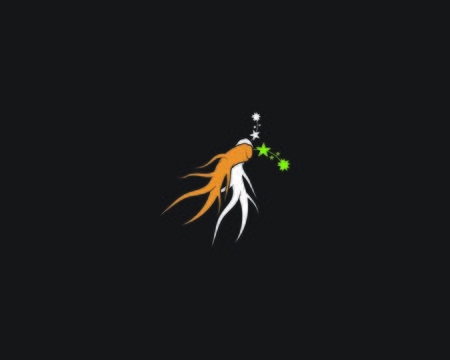 Ginseng vector icon illustration design template on black background