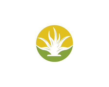 Aloevera logo vector template illustration