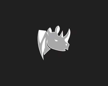 Rhinos head logo vector template Logo