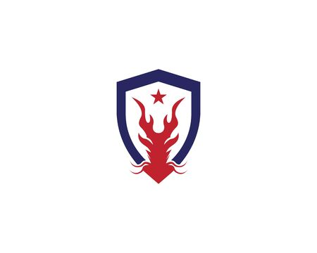 Dragon logo template vector illustration Illustration